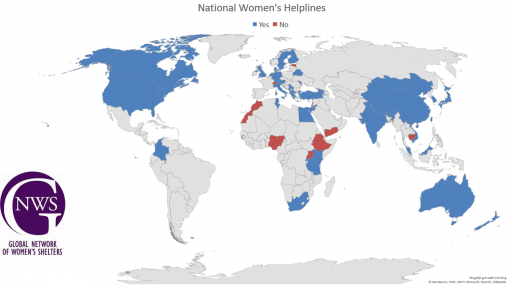 GNWS Global Helplines Project map